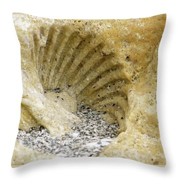 The Shell Fossil Throw Pillow