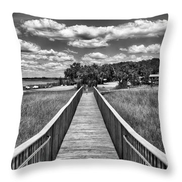 Throw Pillow featuring the photograph The Shell Mound by Howard Salmon