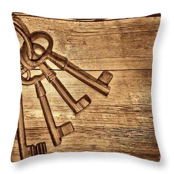 The Sheriff Jail Keys Throw Pillow