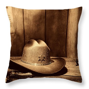 The Sheriff Office Throw Pillow
