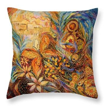 The Shining Of Jerusalem Throw Pillow by Elena Kotliarker