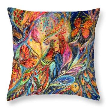 The Shining Of The Night Throw Pillow by Elena Kotliarker