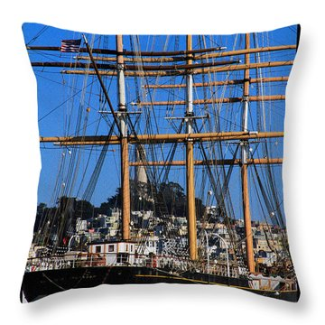 The Ship Balclutha Throw Pillow