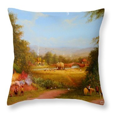 The Shire. Throw Pillow by Joe  Gilronan