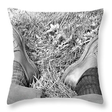 The Shoes Of A Teaching Assistant, 1979 Throw Pillow