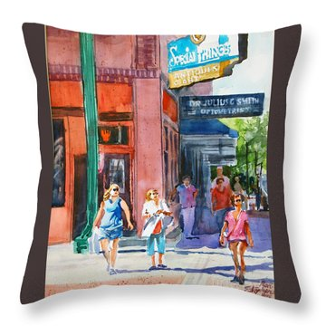 The Shoppers Throw Pillow