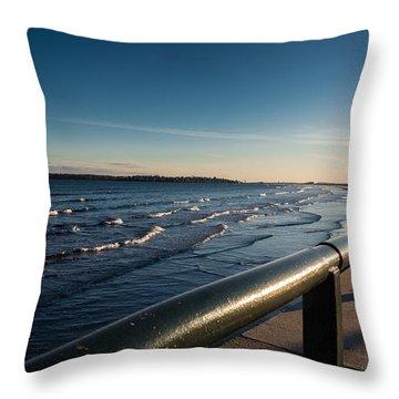 The Shore Line Throw Pillow