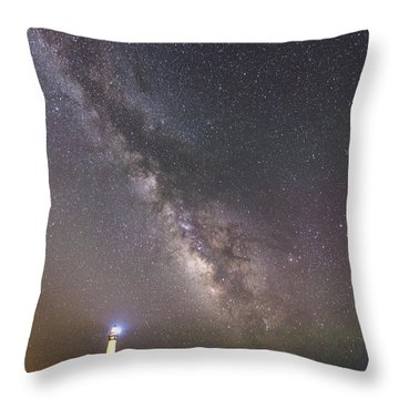 Throw Pillow featuring the photograph The Shore Of Night by Alex Lapidus