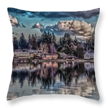 Throw Pillow featuring the digital art The Shore by Timothy Latta