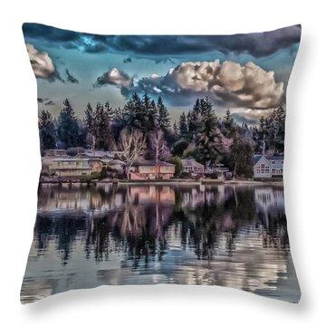 The Shore Throw Pillow by Timothy Latta