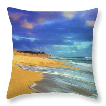 The Shoreline At Half Moon Bay Throw Pillow