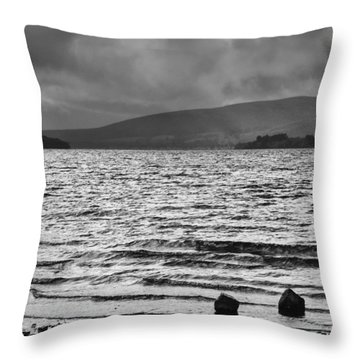 Throw Pillow featuring the photograph The Shores Of Loch Lubnaig by Christi Kraft