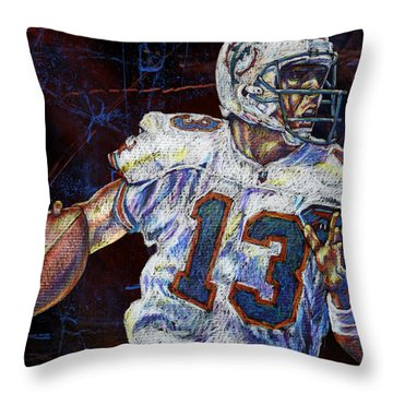 The Shotgun Throw Pillow by Maria Arango