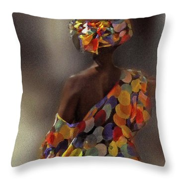 The Shoulder Of Africa Throw Pillow