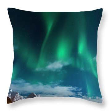 The Show Must Go On Throw Pillow