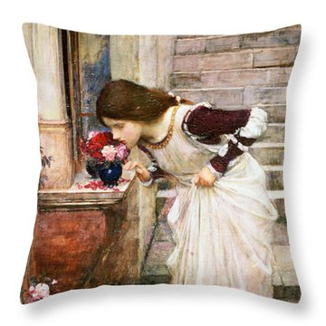 The Shrine Throw Pillow by John William Waterhouse