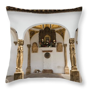 The Shrine Of The Hanged In Ronda Throw Pillow