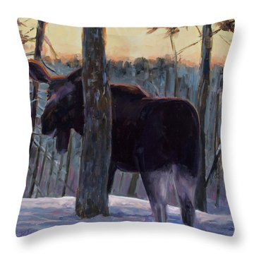 Throw Pillow featuring the painting The Shy One by Billie Colson