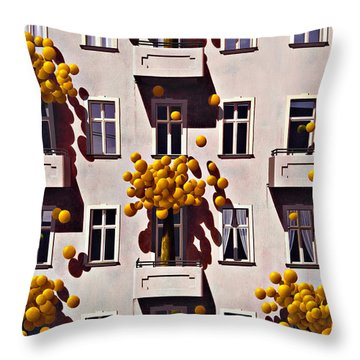 The Shy One Throw Pillow