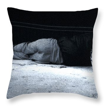 The Sidewalks Of New York Throw Pillow by RC deWinter