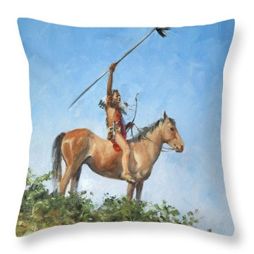 The Signal Throw Pillow by Connie Schaertl