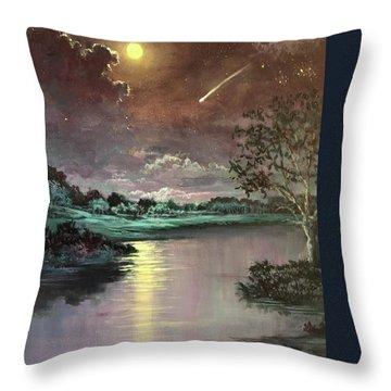 The Silence Of A Falling Star Throw Pillow