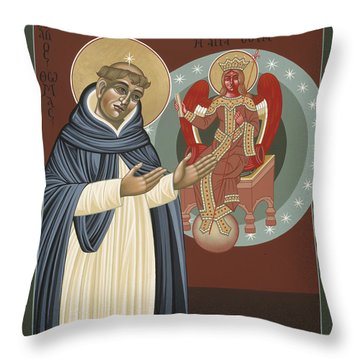 The Silence Of St Thomas Aquinas 097 Throw Pillow