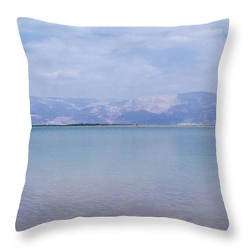 The Silence Of The Dead Sea Throw Pillow by Yoel Koskas