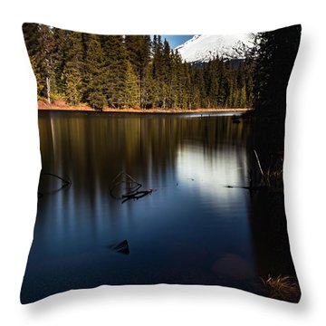 The Silence Of The Lake Throw Pillow