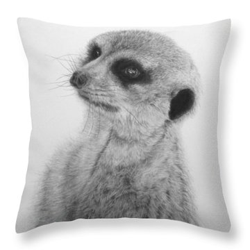 The Silent Sentry Throw Pillow by Jennifer Watson