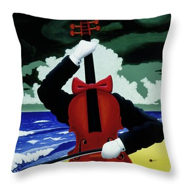 Throw Pillow featuring the painting The Silent Soloist by Paxton Mobley