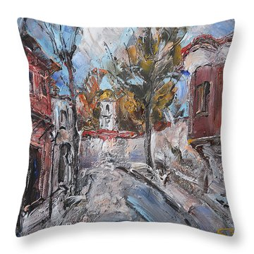 The Silent Street IIi Throw Pillow