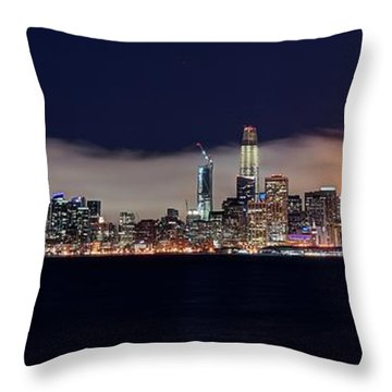 The Silken Fog Throw Pillow