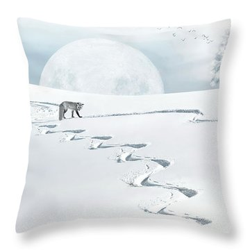 The Silver Fox Throw Pillow