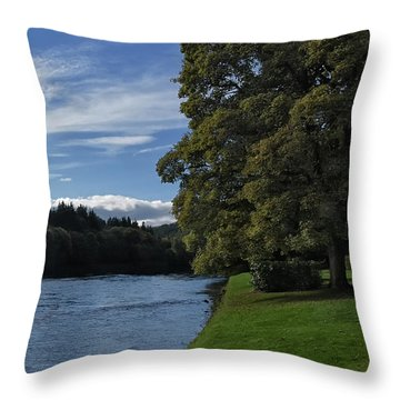 The Silvery Tay By Dunkeld Throw Pillow