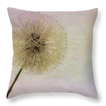 The Simplest Things Throw Pillow