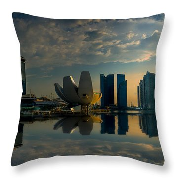 The Singapore Skyline Throw Pillow