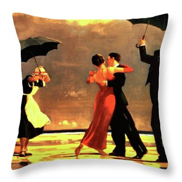 The Singing Butler Throw Pillow