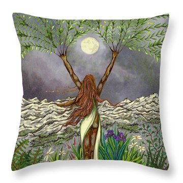 The Singing Girl Throw Pillow