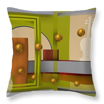 The Singular Song In Yellow Throw Pillow