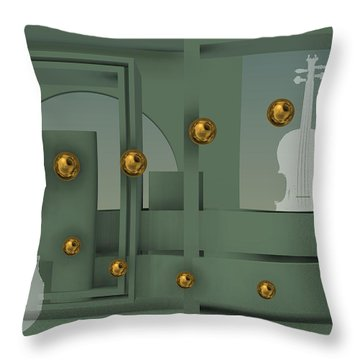 The Singular Song With Gold Balls Throw Pillow