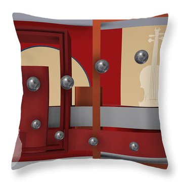 The Singular Song With Silver Balls Throw Pillow