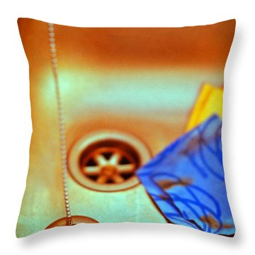 The Sink Throw Pillow by Silvia Ganora