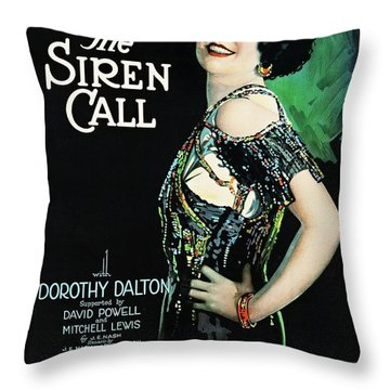 The Siren Call Throw Pillow by Paramount