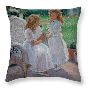The Sister's Garden Throw Pillow