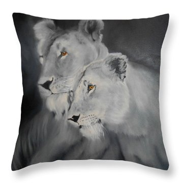 The Sisters Throw Pillow by Maris Sherwood