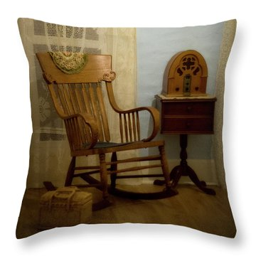 The Sitting Place Throw Pillow