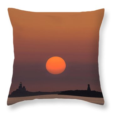 The Skerries Lighthouse  Throw Pillow
