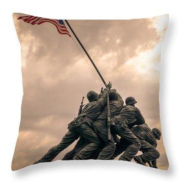 The Skies Over Iwo Jima Throw Pillow