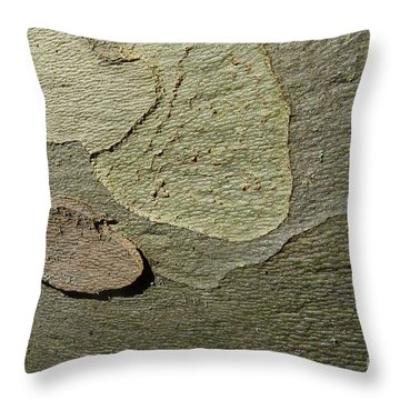 The Skin Of Tree Throw Pillow by Jean Bernard Roussilhe